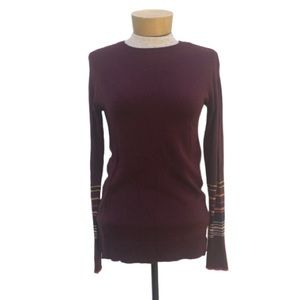 A New Day Burgundy Long Sleeve Crewneck Sweater XS